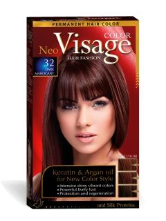 Visage Colour Боя за коса 32 Тъмен махагон