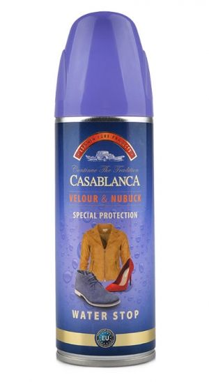 Casablanca Velour & Nubuck Special Protection Water Stop 160 ml. Импрегниращ спрей за набук и велур, 160 мл