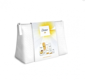 Dove Complete Oil Collection Шампоан и Балсам за коса, Душ гел, Сапун и Дезодорант + несесер
