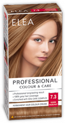Elea Proffesional Colour&Care Боя за коса - № 7/3 Топъл лешник