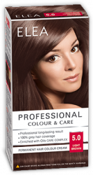 Elea Proffesional Colour&Care Боя за коса- № 5/0 Светло кафяв