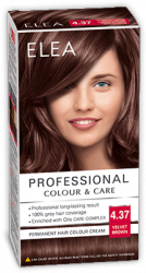 Elea Proffesional Colour&Care Боя за коса- № 4/37 Кадифено кафяв