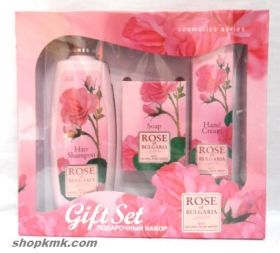 Комплект Rose OF BULGARIA with natural rose water 3елемента