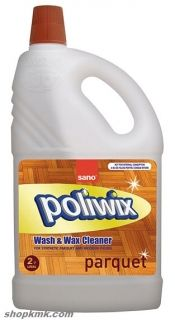 SANO POLIWIX WASH&WAX CLEANER ЗА ЛАМИНИРАНИ И ЛАКИРАНИ ПАРКЕТИ 2L