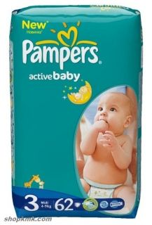 Pampers Active Baby4-9кг 62бр