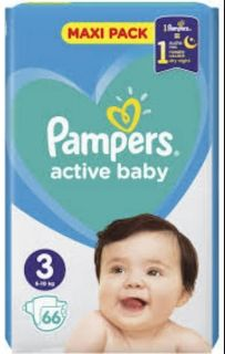 Pampers Active Baby 3 6-10кг 66бр.