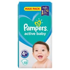 Pampers Active Baby 4 макси + 10-15 кг 53 бр.